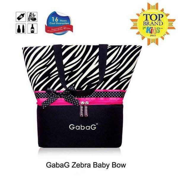 zebra baby bow